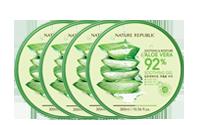 [Value Pack] Nature Republic Soothing & Moisture ALOE VERA 92% Soothing Gel 300ml*4